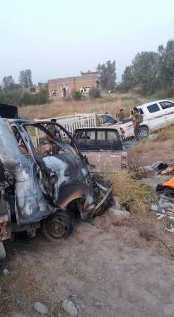 """عجلة لـ""""داعش"""" تسحق بعامرية الفلوجة"""