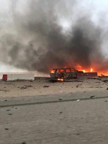 بغداد تحترق الان انفجارات في سيطرة ابي دشير