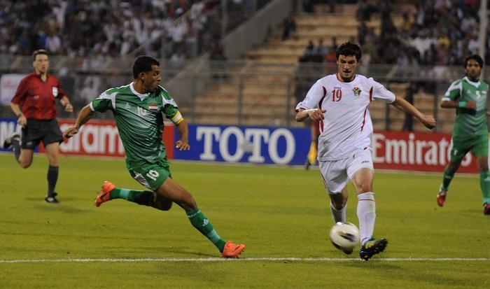 نتيجة بحث الصور عن العراق والأردن مباراة