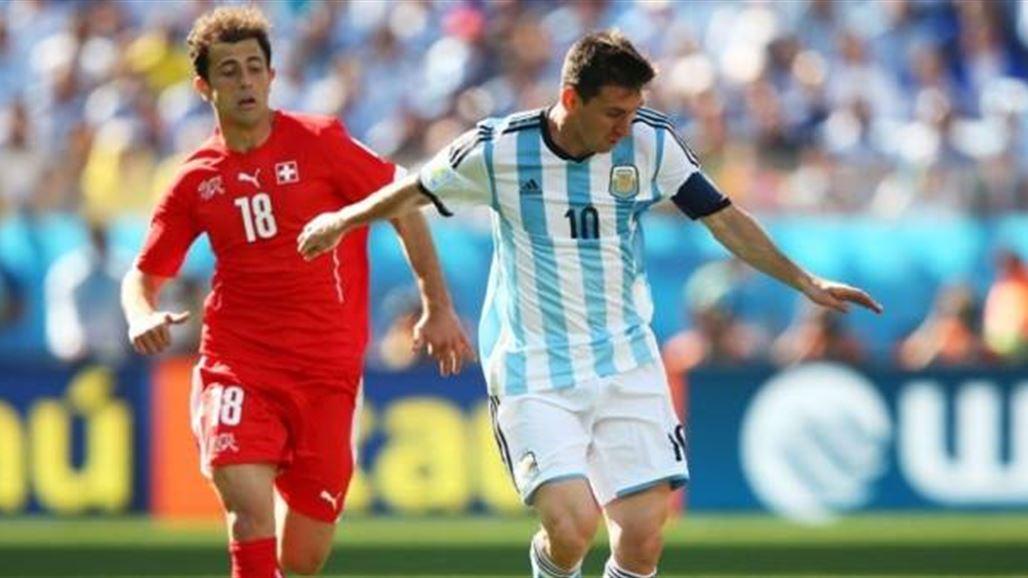 بشق الأنفس الأرجنتين تتأهل لربع نهائي المونديال بفوزها على سويسرا