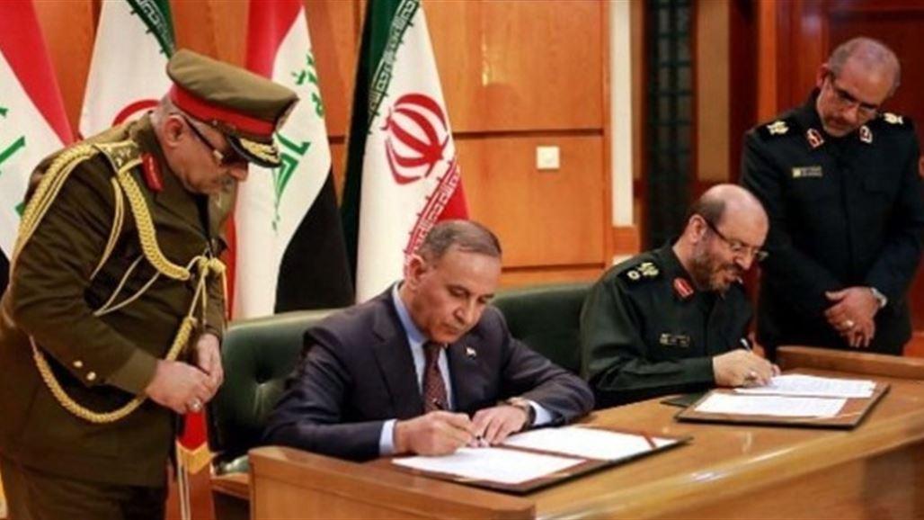 وزير الدفاع يوقع مع نظيره الايراني مذكرة تفاهم بشأن التعاون العسكري بين البلدين | سياسة
