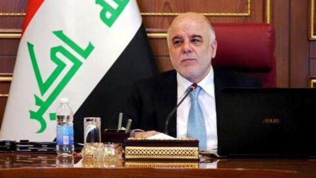 العبادي : جهود قواتنا البطلة باكمال الخطة الاساسية في تطهير الجانب الايسرمن الموصل