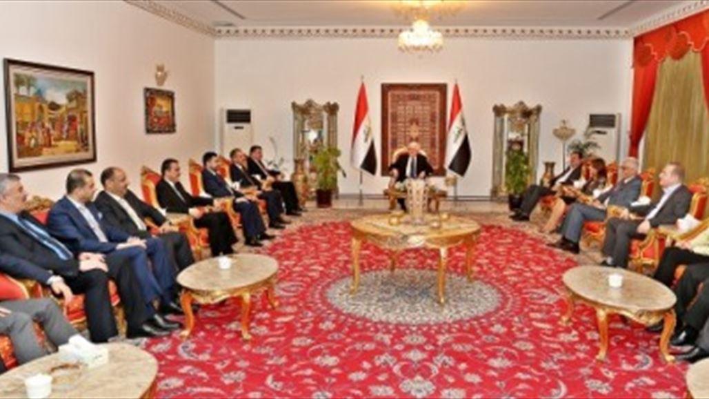 رئيس الجمهورية يعقد اجتماعاً مع اعضاء من اتحاد القوى والكتل الكردستانية