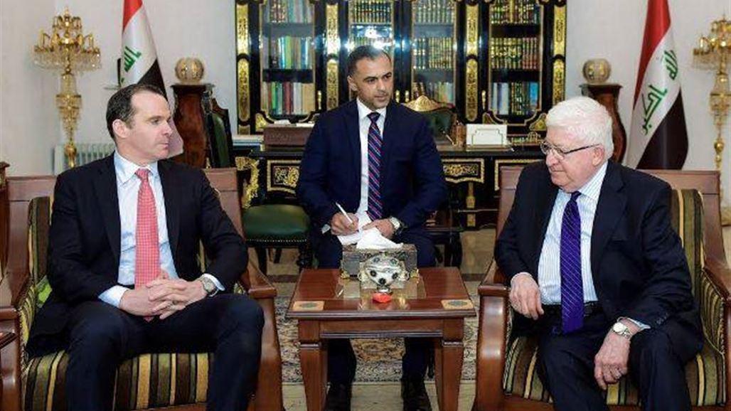 معصوم لمبعوث أوباما: العراق قادر على التحول إلى قوة إقليمية رائدة   سياسة