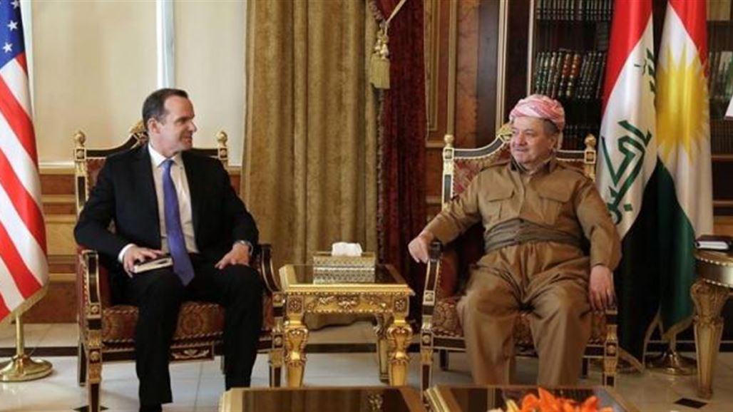 احدث اخبار العراق 2017_البارزاني وماكغورك