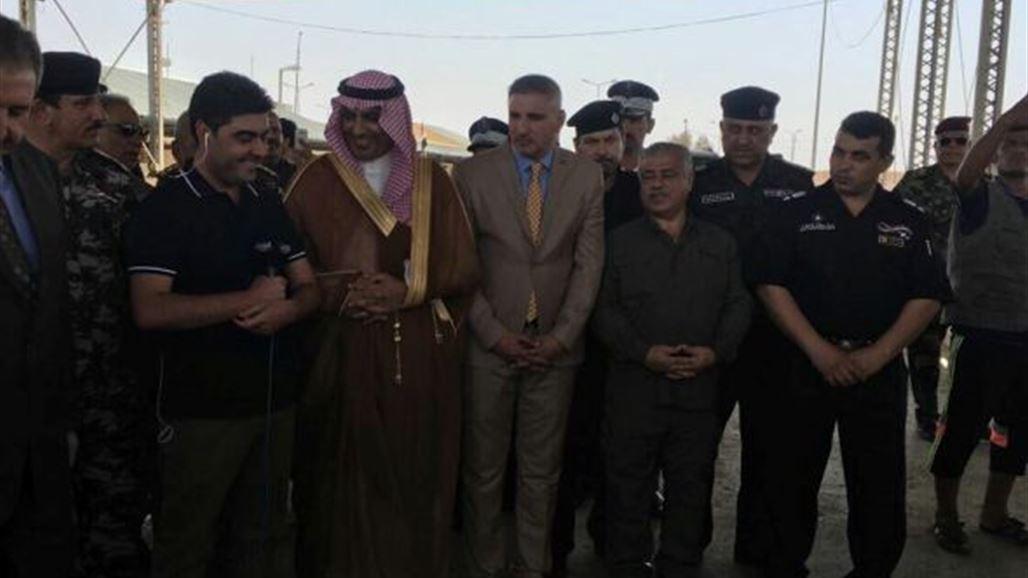 نتيجة بحث الصور عن افتتاح منفذ عرعر العراق السعودية