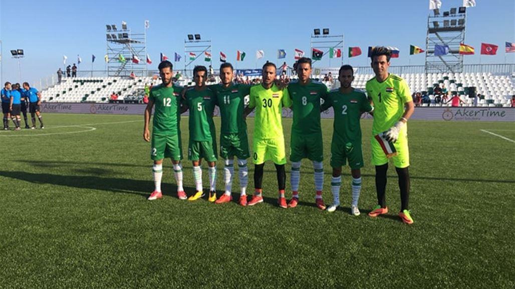 ودع المنتخب العراقي بطولة العالم بالكرة المصغرة المقامة حاليا في تونس