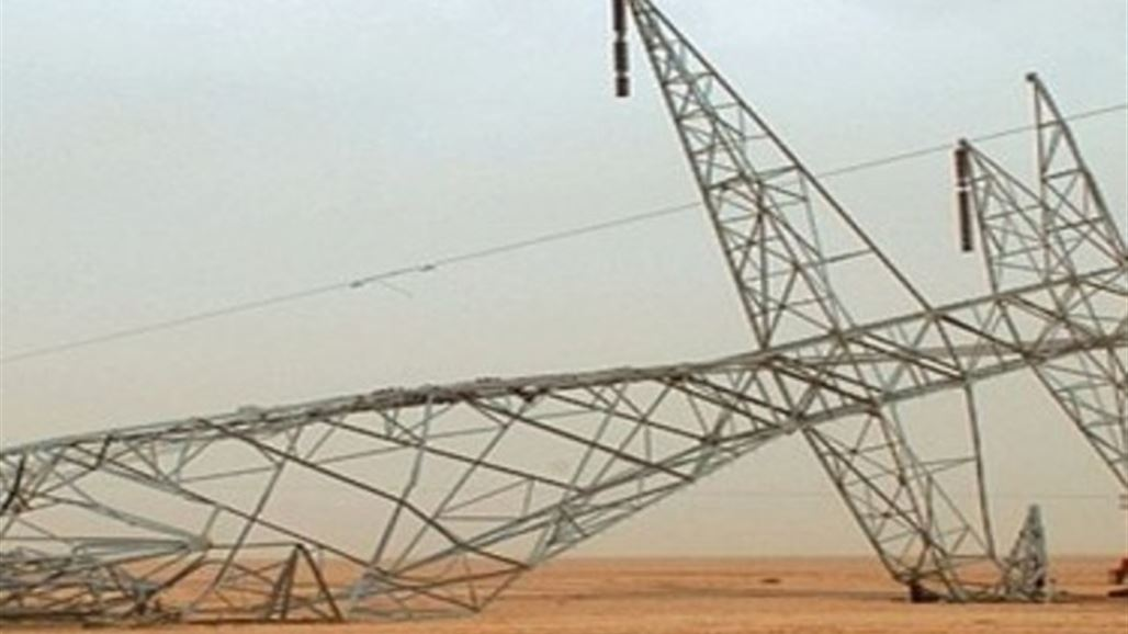 """Da'ash"" destroys two electricity towers that run the courthouse and Samarra across Kirkuk NB-241703-636670097771129086"