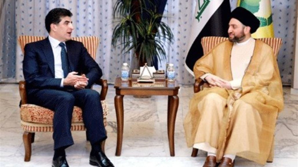 Hakim and Barzani discuss the file of forming the government and constitutional entitlements NB-248024-636732311421334786