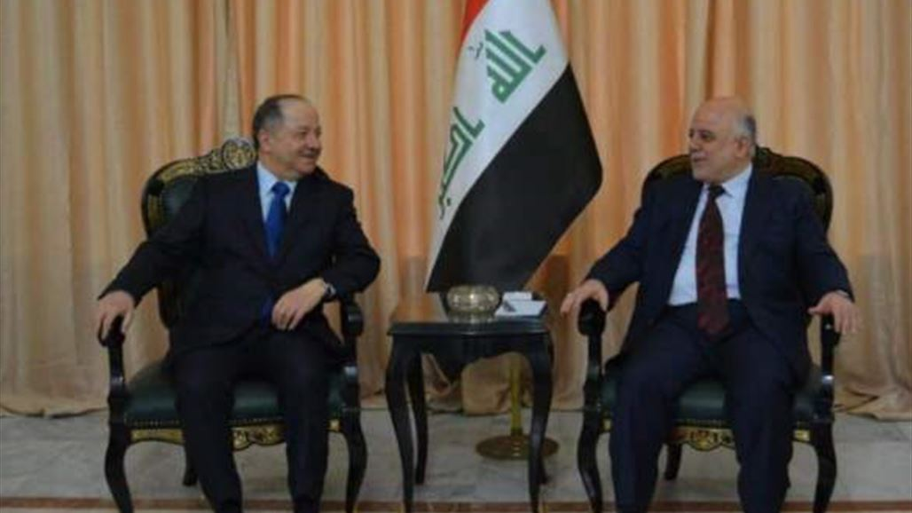 "Abadi and Barzani agree on continuing coordination between the center and the region within the ""one Iraq"" NB-253355-636785650805717016"
