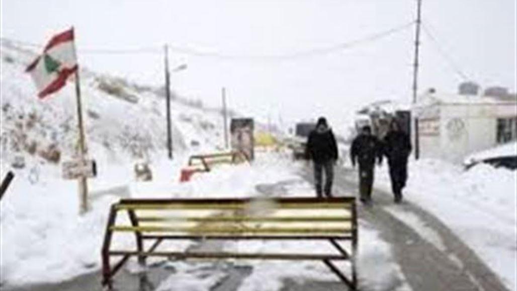 العاصفة الثلجية - أليكسا - تعطل الدراسة في لبنان وغزة 2013/12/11