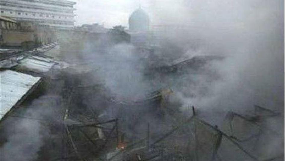تفجيرات تضرب بغداد وحريق كبير في سوق السنك الأربعاء 2014/2/5