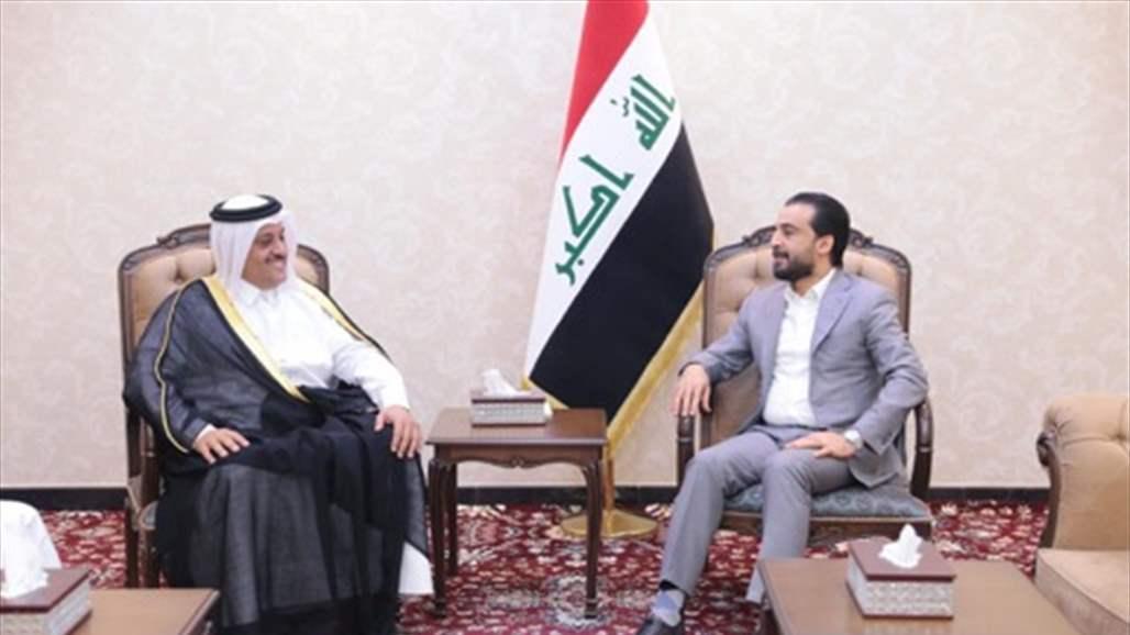 الحلبوسي يوجه دعوة لرئيس مجلس الشورى القطري لزيارة العراق