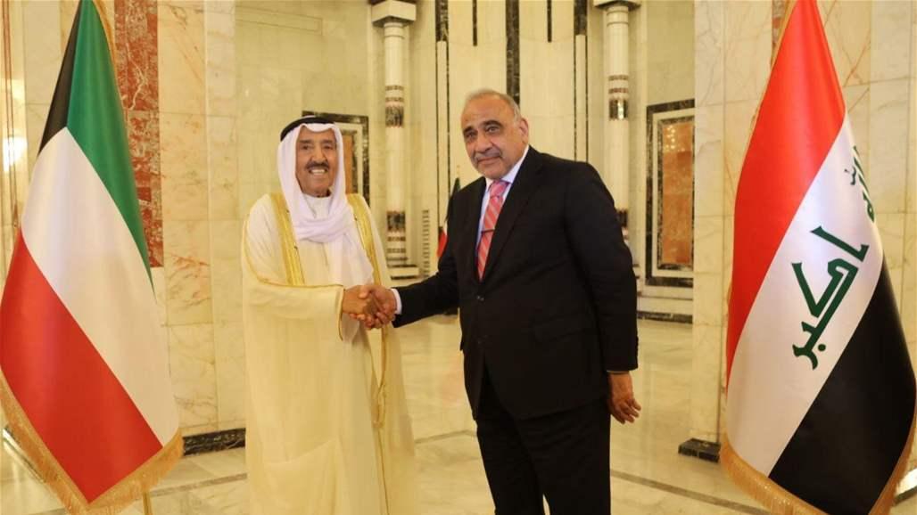 عبد المهدي يستقبل أمير الكويت في بغداد