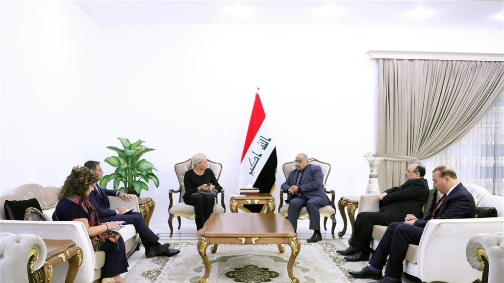 Abdul Mahdi and UN representative discuss government plans to develop economic and development sector Doc-P-318048-637038180204145044