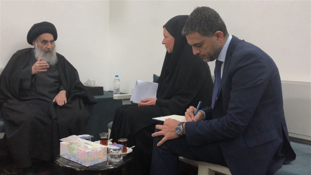The UN representative in Iraq is visiting Najaf today to meet with Sistani Doc-P-324604-637090520295144691