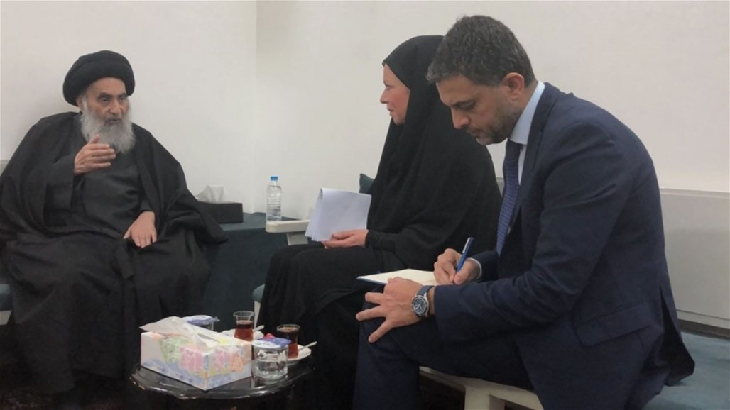 The UN representative in Iraq is visiting Najaf today to meet with Sistani Doc-P-324627-637090625069804475