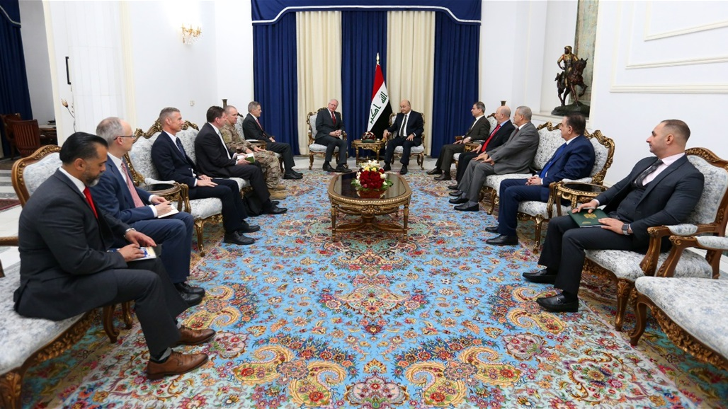 Saleh and the US special envoy to Syria discuss international support to enhance the security and stability of Iraq Doc-P-327199-637111384802866554