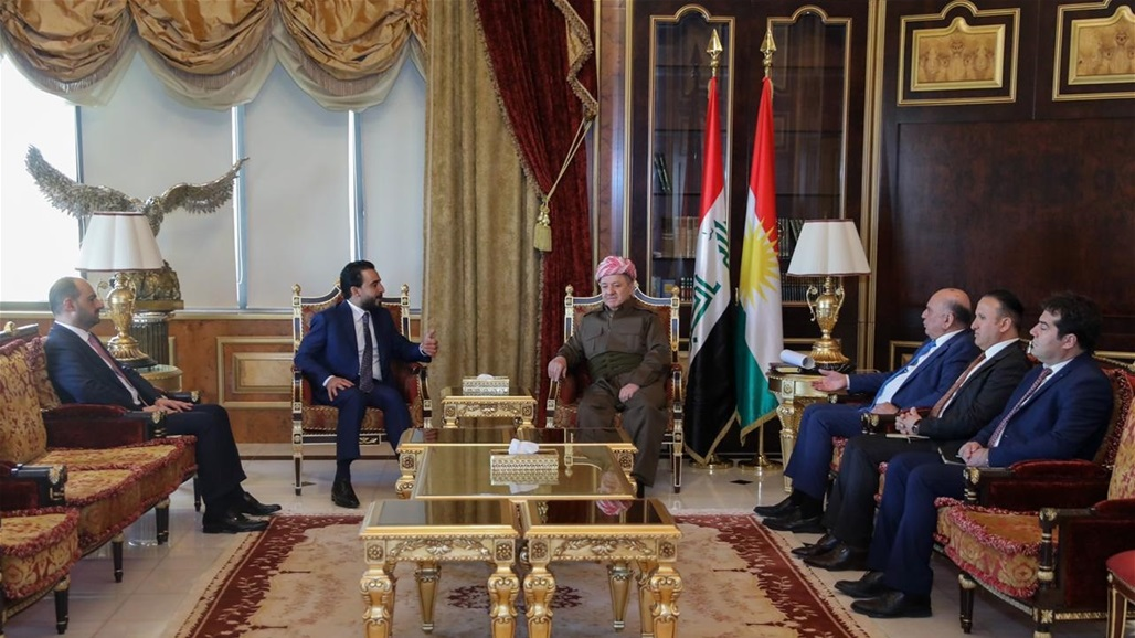 Al-Halbousi and Al-Barzani affirm the strengthening of Iraq's relations with its Arab, regional and international surroundings Doc-P-329241-637126225021987158