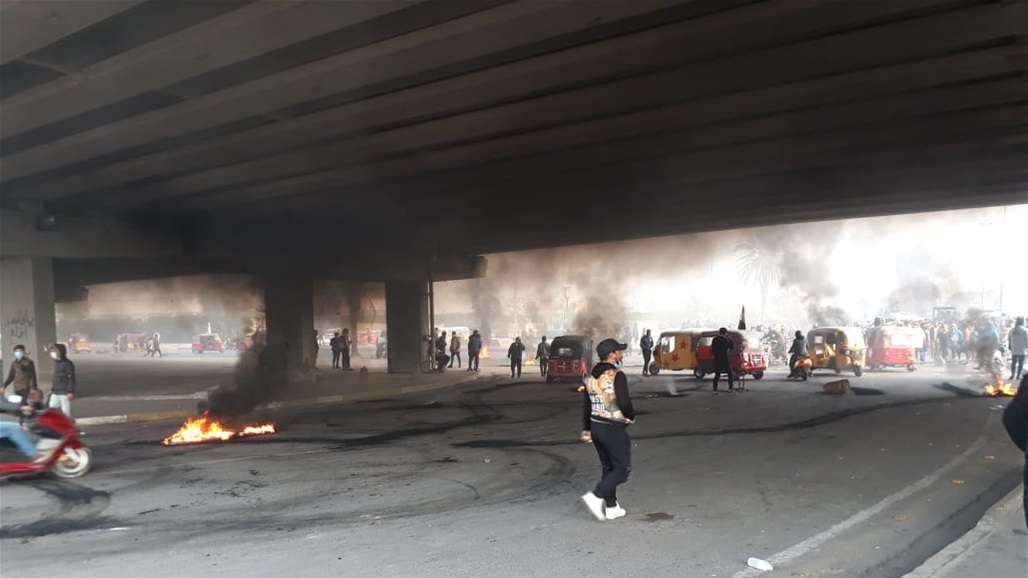 عمليات بغداد تعلن اعتقال مجموعة حاولت قطع الطريق اسفل جسر محمد القاسم