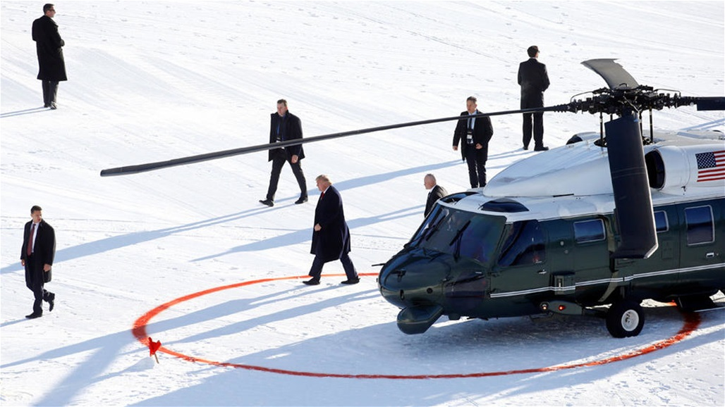 Trump arrives in Davos hours before his trial begins Doc-P-332198-637151955408449736