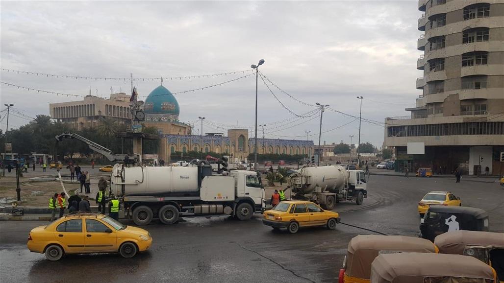الموقف الامني وسط بغداد صباح اليوم