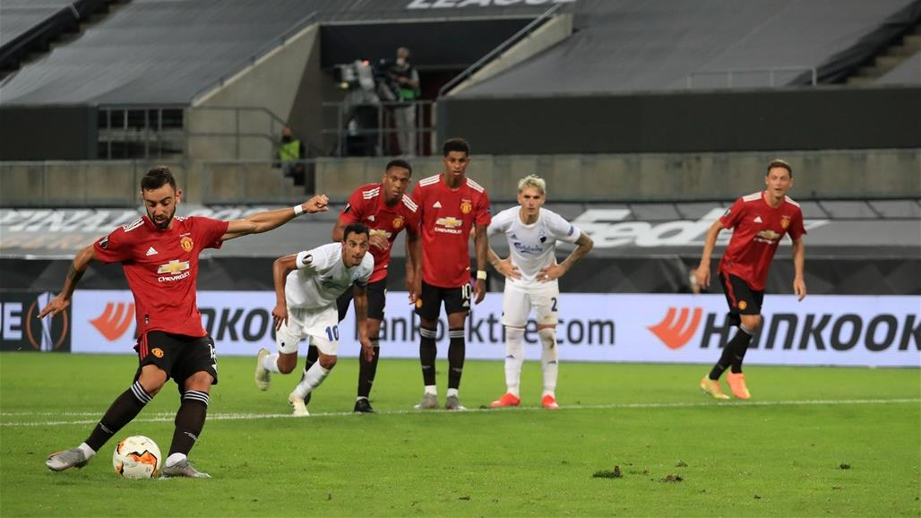 جزائية فيرنانديز تقود مانشستر يونايتد لنصف نهائي الدوري الأوروبي