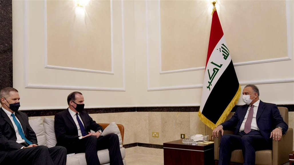 Al-Kazemi and the US delegation discuss preparations for the next round of strategic dialogue