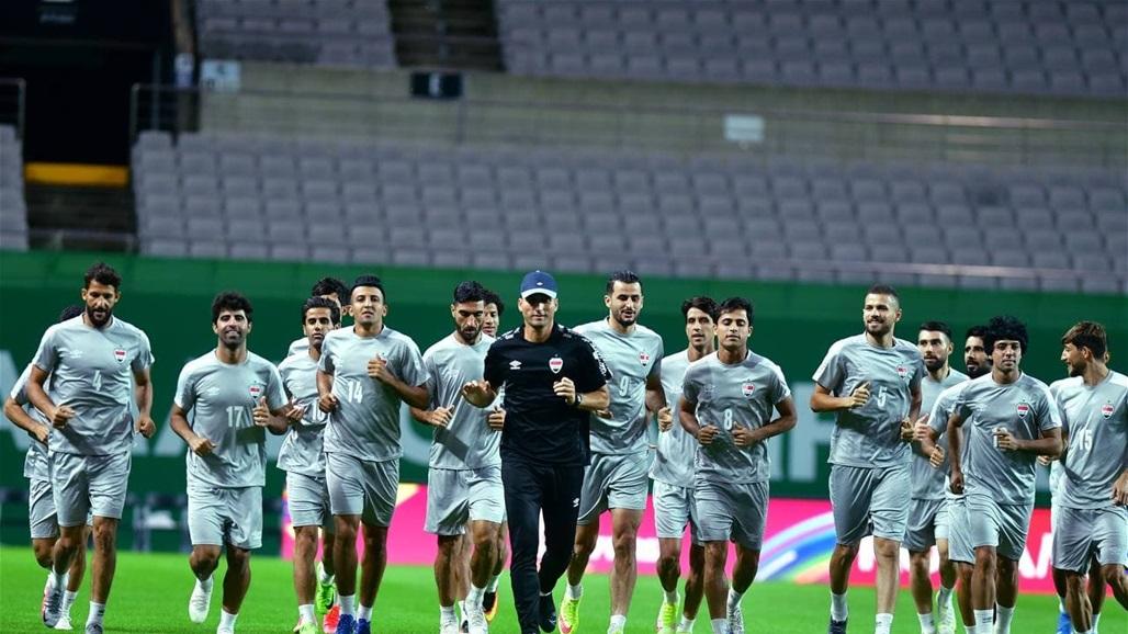 منتخب العراق يختتم تحضيراته لمواجهة كوريا يوم غد (صور)