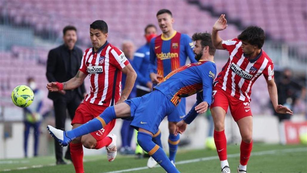 التشكيلة الرسمية لموقعة أتلتيكو مدريد وبرشلونة