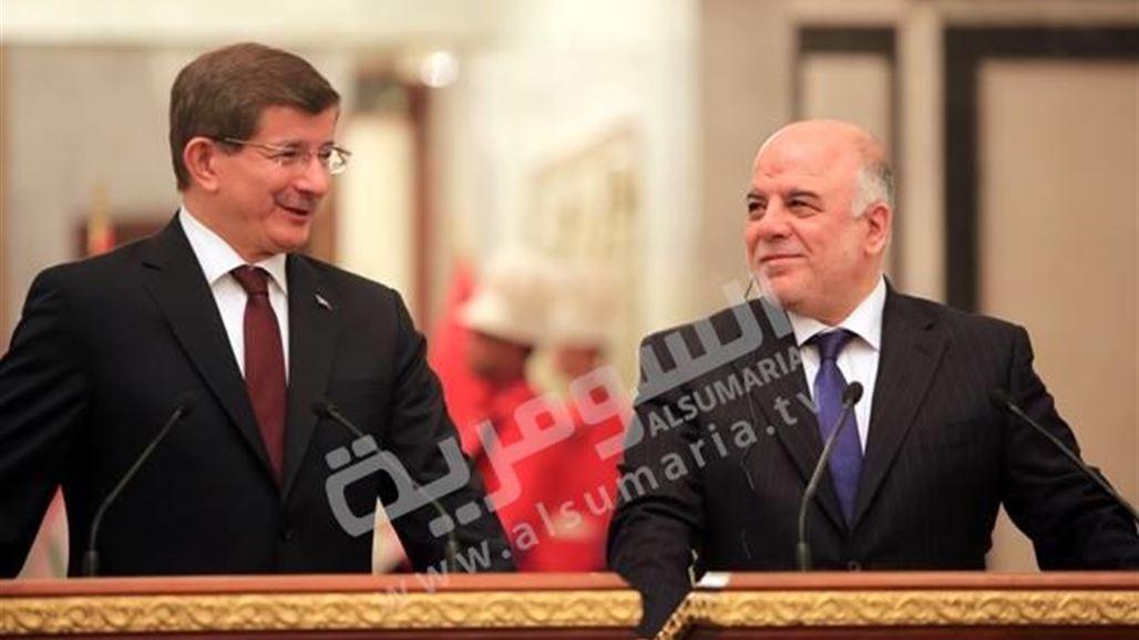 """العبادي يعلن عن اتفاق """"جوهري"""" على تبادل المعلومات والتعاون العسكري مع تركيا"""