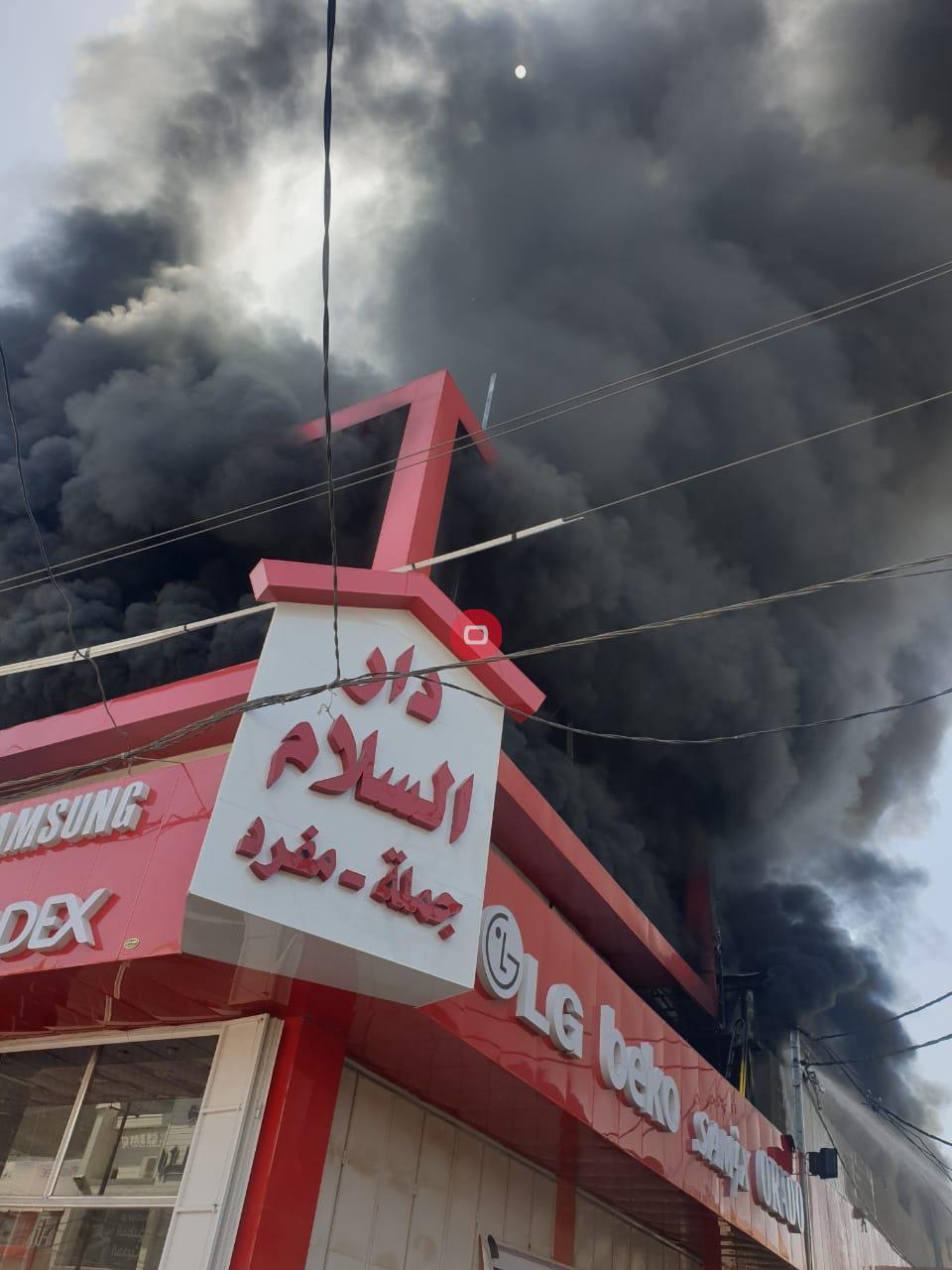 بابل | حريق اندلع داخل مجمع للأجهزة الكهربائية (صور)