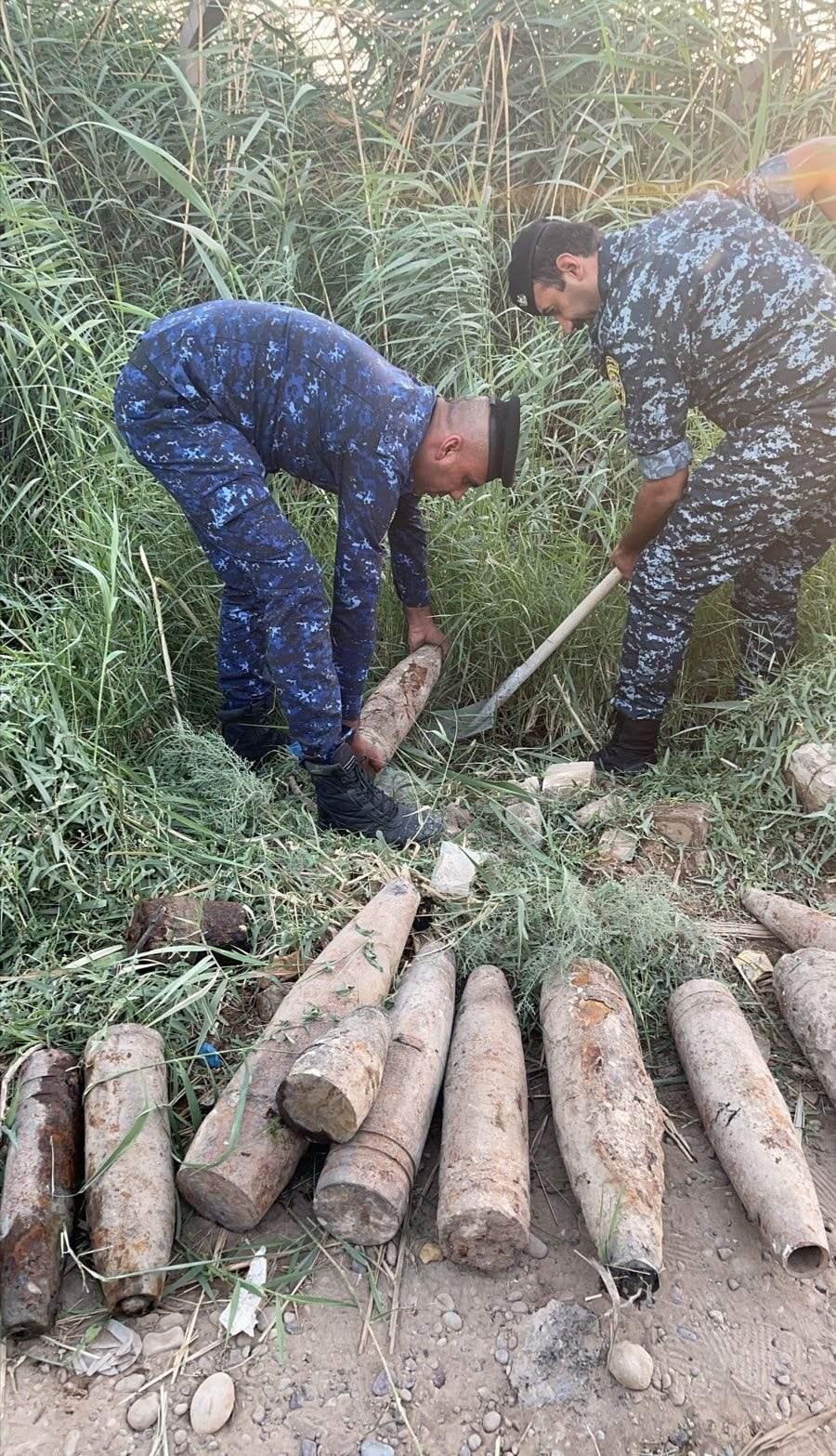 العثور على 14 صاروخ نمساوي في #بغداد