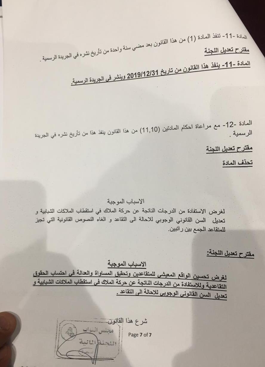 صحيفة العراق تنشر قانون التقاعد الجديد الراتب لا يقل عن 500 الف والسماح بالجمع بين راتبين !!!