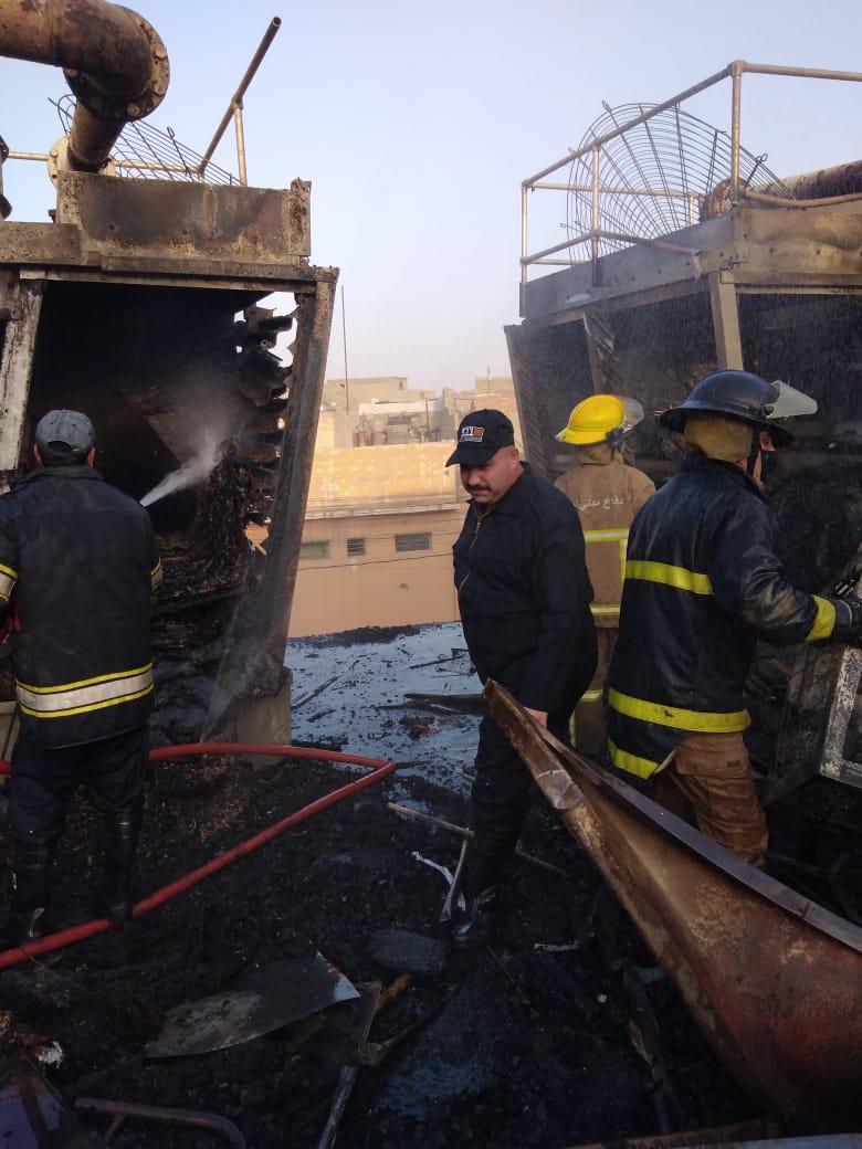 مستشفى #الموصل العام يحترق الان