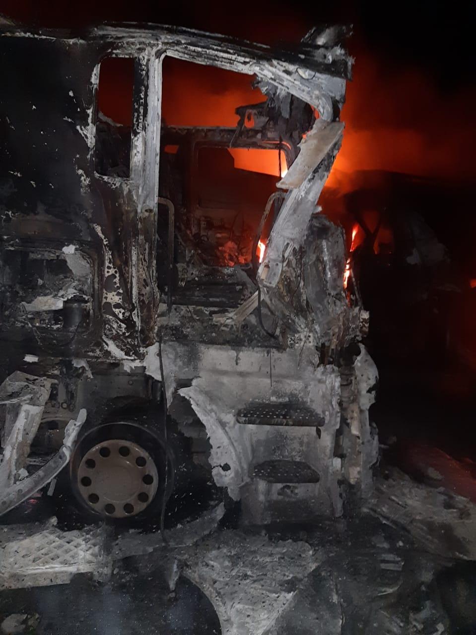 """البصرة : حريق سيطرة السدرة """"صور"""""""